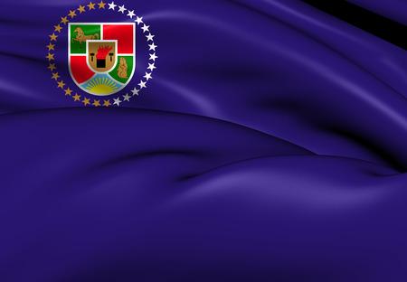 luhansk: Flag of Luhansk Oblast. Close Up.