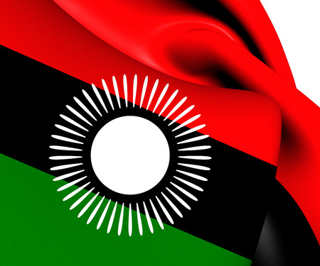 malawian flag: Flag of Malawi (2010-2012). Close Up. Stock Photo