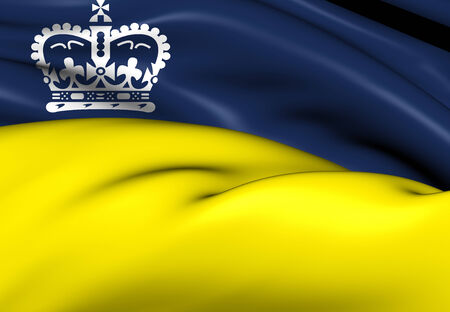 regina: Flag of Regina, Canada. Close Up.