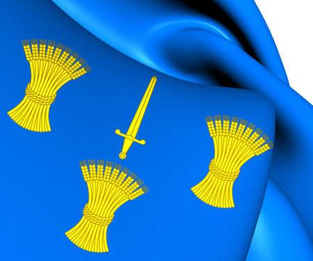 palatine: Flag of Cheshire, England. Close Up.