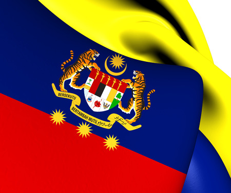 Flag of Federal Territories (Malaysia). Close Up