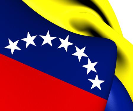 ensign: Civil Ensign of Venezuela. Close Up.