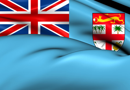 ko: Flag of Fiji. Close Up.