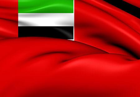 ensign: United Arab Emirates Civil Ensign. Close Up.