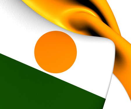 niger: Flag of Niger. Close Up.