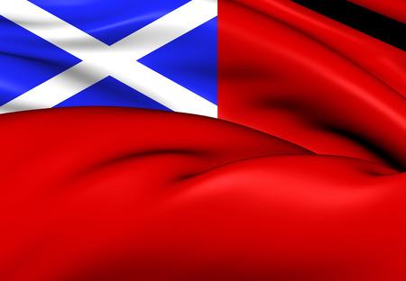 Scottish Red Ensign. Close Up.