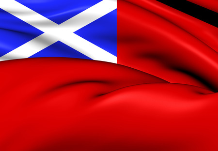 ensign: Scottish Red Ensign. Close Up.