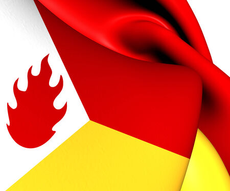 Flag of Tintigny, Belgium. Close Up.    Stock Photo