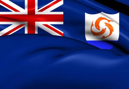 brutish: Flag of Anguilla. Close Up.