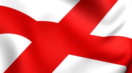 Flag of Alabama, USA. Close Up.   photo