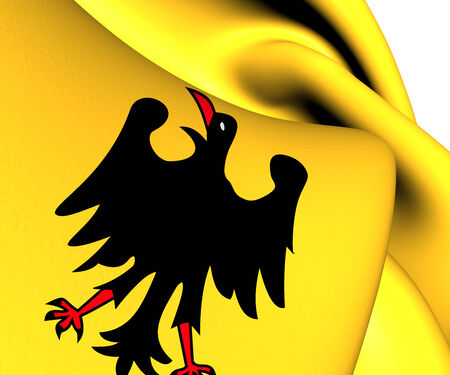 holy roman emperor: Holy Roman Emperor Flag (Before 1400). Close Up.