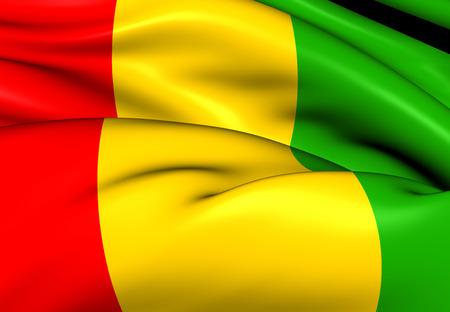 Flag of Guinea. Close Up.