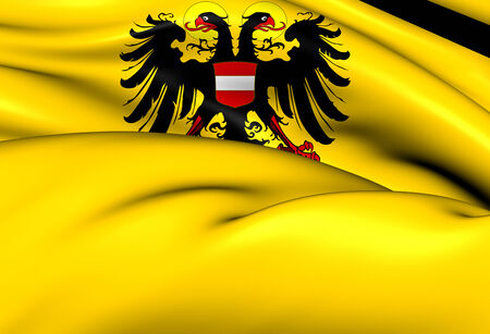 holy roman emperor: Holy Roman Empire Flag (1437-1493). Close Up.