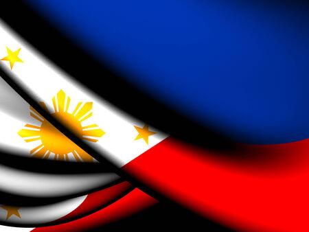 philippines flag: Flag of Philippines. Close Up.