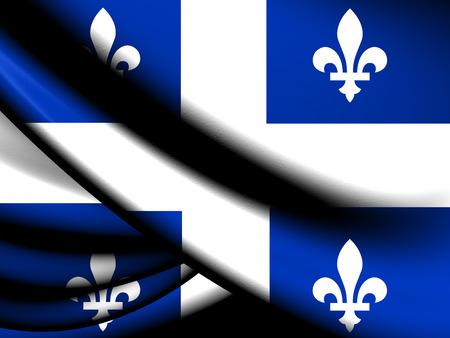 belle: Flag of Quebec Province. Close Up.