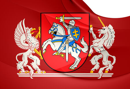 lithuania flag: President of Lithuania Flag. Close Up.