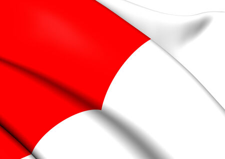 Flag of Bilbao, Spain. Close Up. photo
