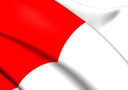 bilbao: Flag of Bilbao, Spain. Close Up.