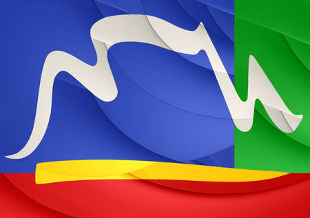 Flag of Cape Town, South Africa. Close Up. Stock Photo