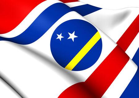 governor: Governor of Curacao Flag. Close Up.