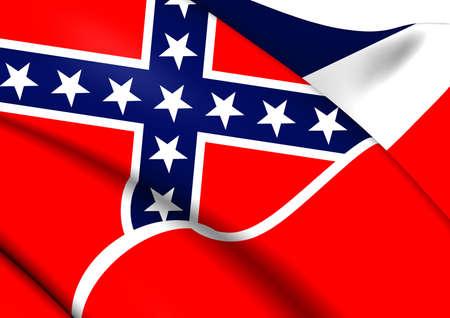 Flag of Mississippi, USA. Close Up.  photo