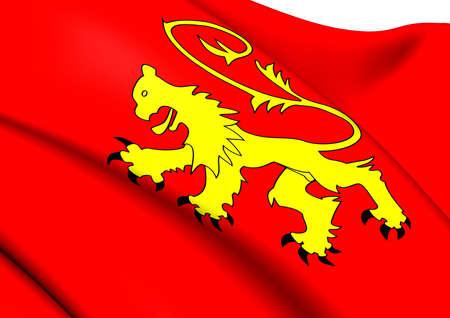 malta cities: Flag of Valletta, Malta. Close Up.