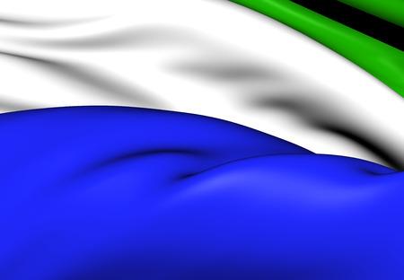 sierra: Flag of Sierra Leone. Close Up.    Stock Photo