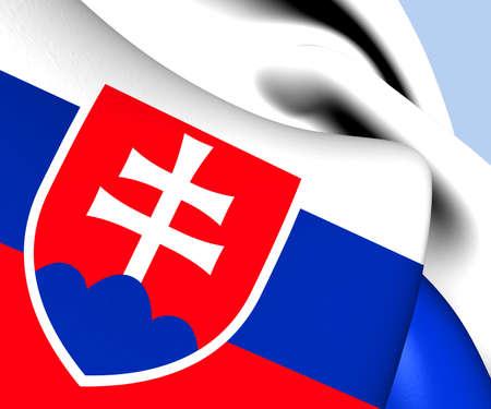 slovakian: Flag of Slovakia. Close Up.