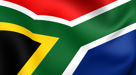 rsa: Flag of South Africa. Close Up.