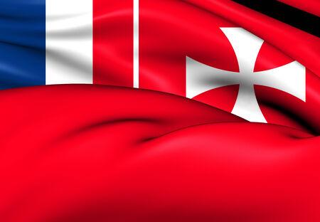 wallis: Flag of Wallis And Futuna. Close Up. Stock Photo