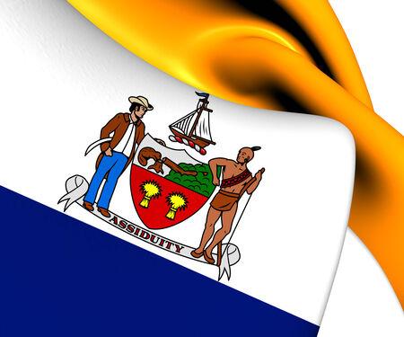 albany: Flag of Albany, USA. Close Up.    Stock Photo