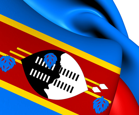 swaziland: Flag of Swaziland. Close Up.