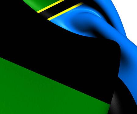 zanzibar: Vlag van Zanzibar. Close Up.