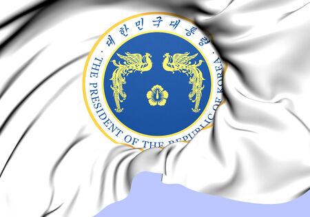 Republic of Korea President Seal. Close Up.    photo