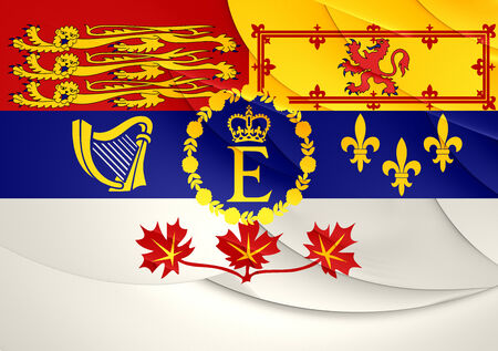 queen elizabeth ii: Royal Standard of Canada. Close Up.