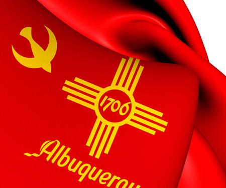 Flag of Albuquerque, USA. Close Up.    photo
