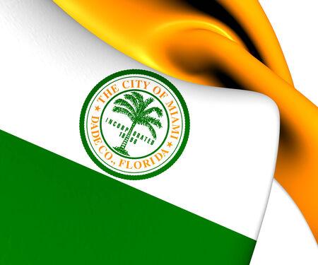 Flag of Miami, USA. Close Up.    photo