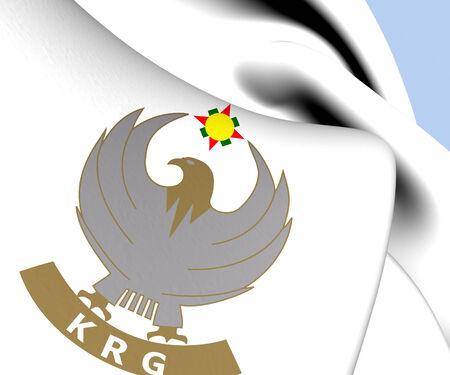 regional: Kurdist�n Emblem Gobierno Regional. De cerca.
