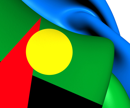 dom: Flag of Reunion (Proposed). Close Up.    Stock Photo