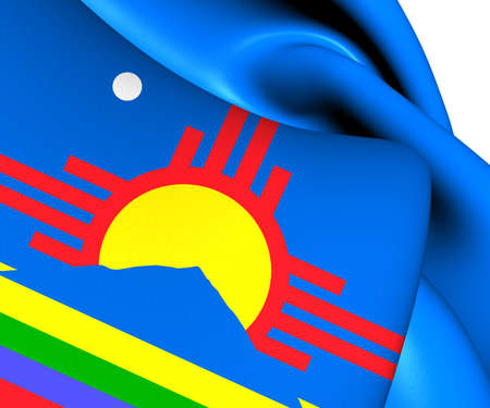 roswell: Flag of Roswell, USA. Close Up.