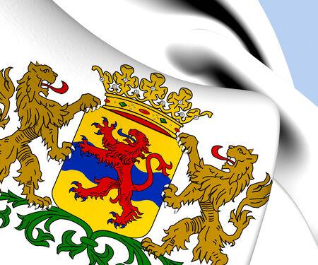 europe closeup: Overijssel Coat of Arms, Netherlands. Close Up.