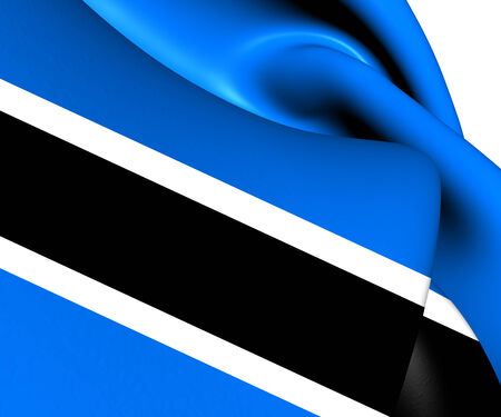 Flag of Botswana. Close Up. photo