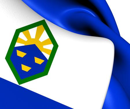 colorado flag: Flag of Colorado Springs, USA. Close Up.