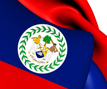 Flag of Belize. Close Up. photo