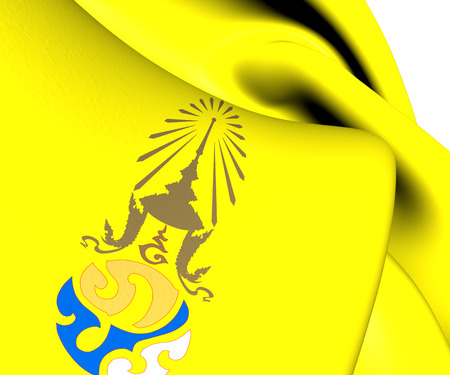 bhumibol: Royal Flag of King Rama IX. Close Up.