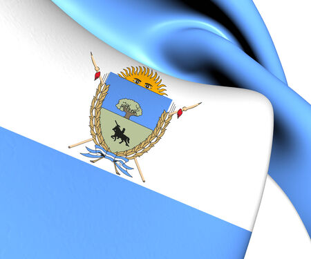 La Pampa Province Flag, Argentina. Close Up.    photo
