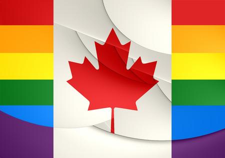 Canada Gay Flag. Close Up.    photo