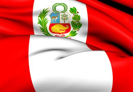 Flag of Peru. Close Up.    photo