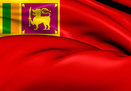 ensign: Civil Ensign of Sri Lanka. Close Up.    Stock Photo