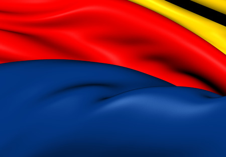 north holland: Flag of North Holland, Netherlands. Close Up. Stock Photo